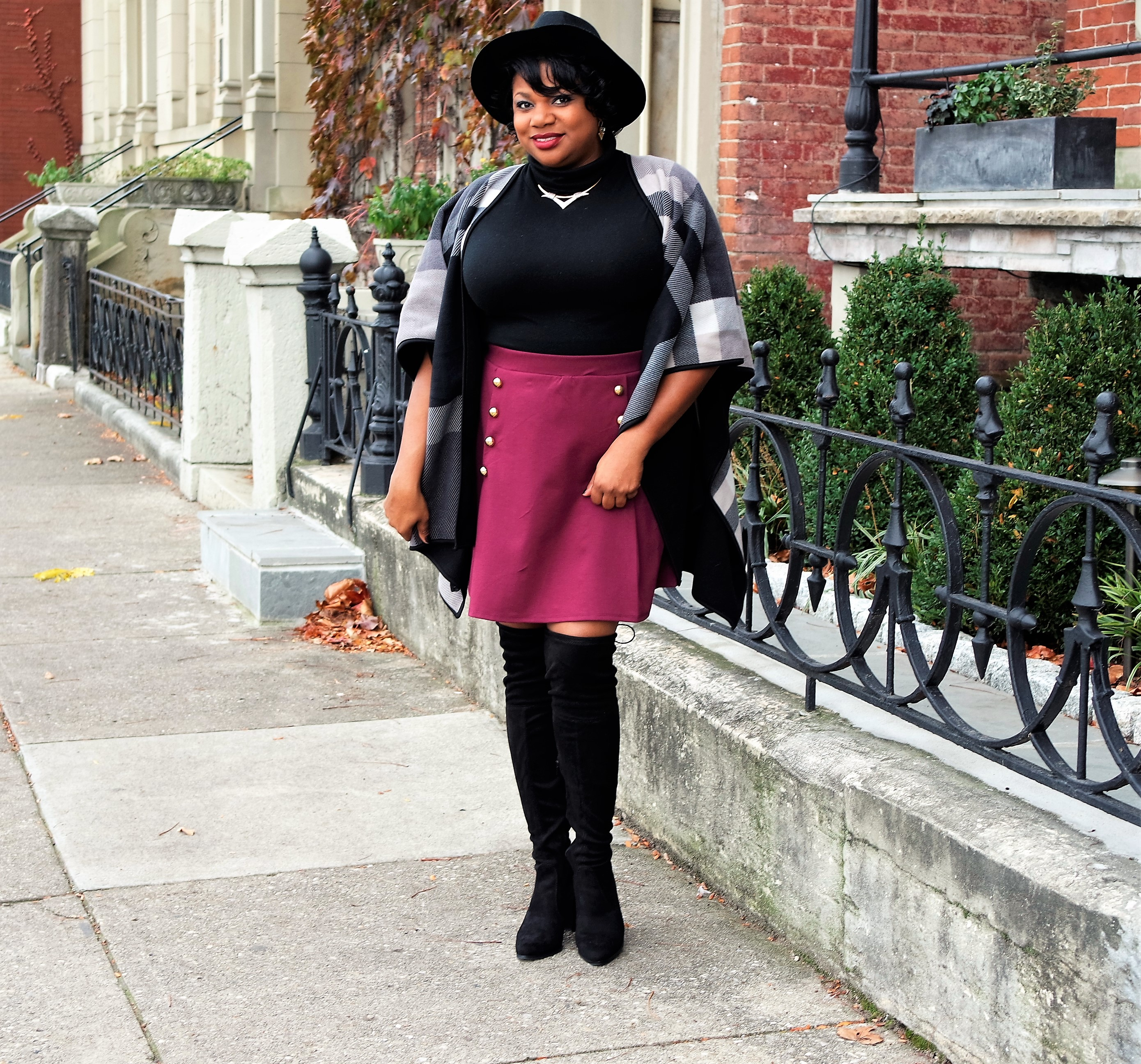 8f12086ab7c5 I'm not big on mini skirts but I saw one of my favorite Youtube vloggers  style a miniskirt and over the knee boots and she sold me on the idea of  purchasing ...